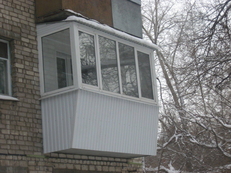 Остекление балконов с выносом. цена на вынос балкона и остек.